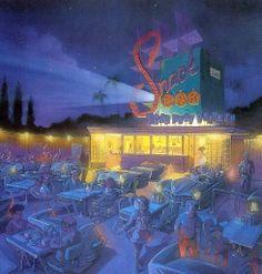 Sci-Fi Dine-In Theater restaurant, Disney's Hollywood Studios, Walt Disney World - Nina Rae Vaughn