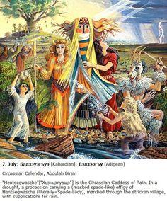 Circassian calendar Caucasian People, Scandinavian Folk Art, Mother Goddess, Military History, Prehistoric, Pagan, Religion, Culture, Fantasy