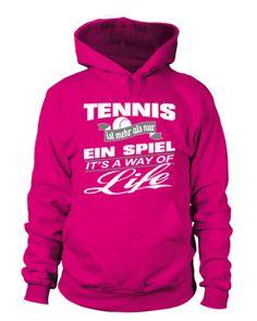 Tennis is a way of life! Tennis World, Usa Sports, Tennis Shirts, Hoodies, T Shirt, Stuff To Buy, Life, Supreme T Shirt, Sweatshirts