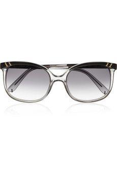 CHLOÉ  Squre-frame acetate sunglasses