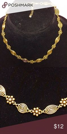 Antique gold choker Simple antique gold choker. EUC. Wore this with comfortable jeans and to the office as well. Jewelry Necklaces