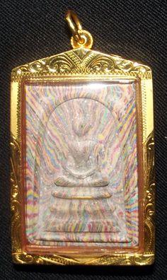 Pra Somdej Sai Rung - LP Pae Wat Pikul Tong in Solid Gold Casing Powder Amulets | Ancient Amulet