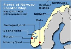 map of norways fjords and mountains | Fjords of Norway cruises - Candid tips by Howard Hillman