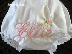 Monogrammed Diaper Cover Bloomers by SherbetBaby on Etsy, $12.00