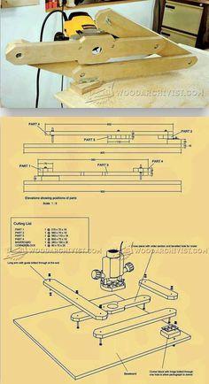 Router Pantograph Plans - Router Tips, Jigs and Fixtures   WoodArchivist.com