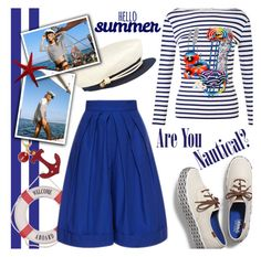 Nautical by gabrilungu on Polyvore featuring polyvore fashion style Delpozo Keds Eugenia Kim Amuse Society clothing
