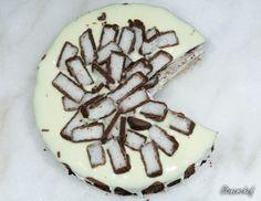 Sernik Bounty z polewą z białej czekolady - Stonerchef Waffles, Cheesecake, Food And Drink, Sugar, Cookies, Baking, Breakfast, Per Diem, Kuchen