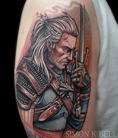 That's 3 out of 4 of the competition designs tattooed. Only Attack on Titan left, which is still available 《Simonkbell@gmail.com》 ~ #geralt #geralttattoo #geraltofrivia #thewitcher #witcher #witchertattoo #witcher3 #wildhunt #tattoo #eredin #cdprojektred #liverpooltattoo #videogame #videogametattoo #gaming #gamingtattoo #gamer #gamertattoo #ciri #yennefer #whitewolf #bloodandwine #gwent #igni #pusspeepers