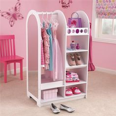 Organize all your daughter's dress up clothes - so cute for her room! | Lillian Vernon