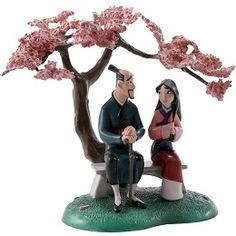 WDCC Disney Classics Mulan And Father When It Blooms It Will Be The Most Beautiful Of All #WDCCDisneyClassics #Art. Numbered Limited Edition of 500. Sculptures produced in 2008 will bear a 10th Anniversary Backstamp.