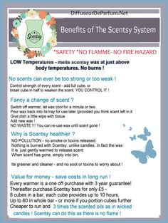 Benefits of The Scentsy System #Safety #Flammeless  #Candles  #Wickless #ScentedCandle #WaxMelts  Order your at : https://acheter.scentsy.fr/ #ScentsyUK Scentsy