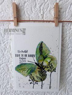 Weer heerlijk zomaar zitten te spelen met de misti en mijn ZIG markers. De vlinders zijn van Viva Las VegaStamps, de bloemen van Carabelle Studio en de teksten van de Action. En dat gave hangertje …