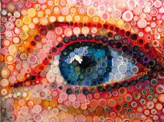 Stunning bottle cap portrait art laced with a progressive message | DesignFaves