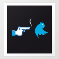 UNSOCIAL NETWORK Art Print by Letter_q - $18.00