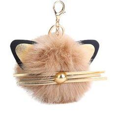 Cute Cat Fluff-ball Keychain MEOWGICAL17 - 10% off code