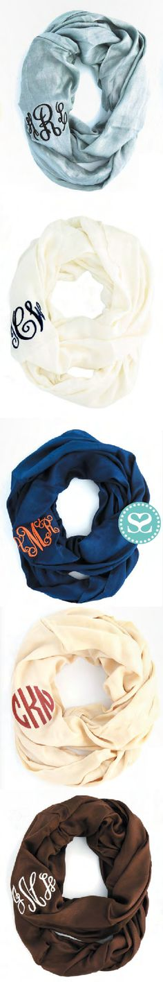 Warm up in these oh so soft and preppy #infinityscarves.  Customize from 6 perfect colors! The softest way to stay warm!