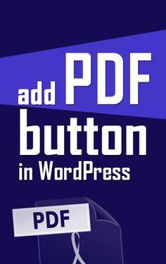 "Add ""Download as PDF"" button in #WordPress website"