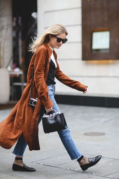 The Best Street Style At LFW AW16 #refinery29 http://www.refinery29.uk/2016/02/103500/street-style-london-fashion-week-aw16-news#slide-27 Ankle socks and Gucci loafers. The dream....