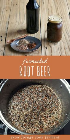 Root Beer Learn how to make delicious homemade fermented root beer. Made with real roots and herb and a ginger bug for fermentation!Learn how to make delicious homemade fermented root beer. Made with real roots and herb and a ginger bug for fermentation! Beer Recipes, Cooking Recipes, Homebrew Recipes, Dog Recipes, Superfood, Ginger Bug, Fermentation Recipes, Fermented Foods, Fermented Tea