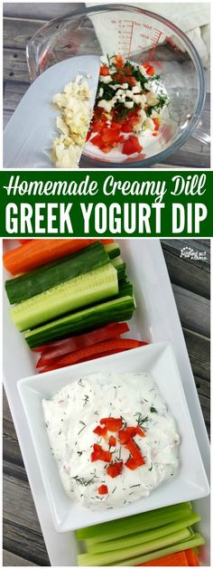 CREAMY DILL GREEK YOGURT DIP RECIPE #ad #Stonyfield