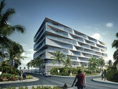 """BIG divulga projeto do Condomínio """"Honeycomb"""" nas Bahamas"""
