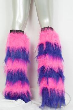 Cheshire Cat Leg Fluffies PINK & PURPLE Fluffies by lemonbrat