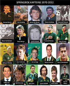 Springbok captains for the period South African Rugby, South Africa Rugby Team, Rugby Images, All Blacks Rugby, Rugby World Cup, Rugby Players, Sports Stars, African History, Childhood Memories