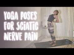 Soothe and relieve sciatic nerve pain without medication by practicing these 8 simple yoga poses tailored to sciatica relief. Sciatic Nerve Exercises, Back Pain Exercises, Yoga Poses For Sciatica, Easy Yoga Poses, Sciatica Stretches, Sciatica Pain Relief, Sciatic Pain, Piriformis Muscle, Nerve Pain