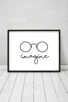 John Lennon poster Imagine poster Beatles by MGDigitalHippie