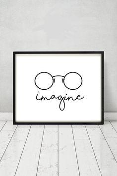 John Lennon poster Imagine poster Beatles by MGDigitalHippie