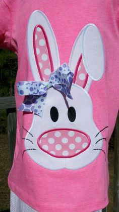Funky Big Nosed Bunny Machine Applique Design by ohhsooxford, $5.00