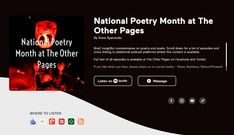 Now you can listen to National Poetry Month podcasts on Spotify, ITunes, Google Podcasts, Anchor, and more. National Months, National Poetry Month, Dream Book, All Episodes, The Republic, Book Series, Itunes, Anchor, Google