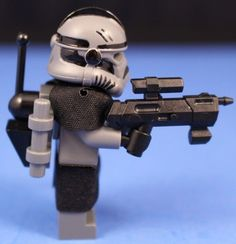 Full Body Printing Custom Lego STORMTROOPER COMMANDER Minifigure E-11 Blaster