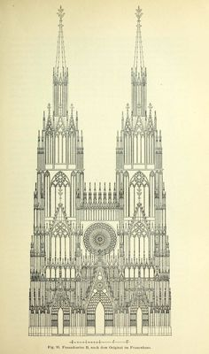 Design for the front elevation of the Cathedral, Strasbourg