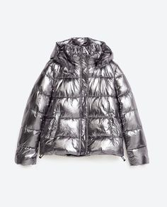 Image 11 of METALLIC QUILTED JACKET from Zara