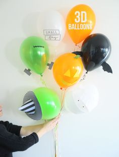 Awesome 3D Halloween balloons.