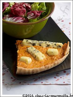 Quiche de patates douces au bleu