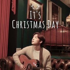 Korean MyuzicStyleZ: Roy Kim - It's Christmas Day [Easy-Lyrics] Album Songs, Music Albums, Kim Sang Woo, Roy Kim, Christmas Albums, Super Junior, Itunes, Album Covers, Lyrics