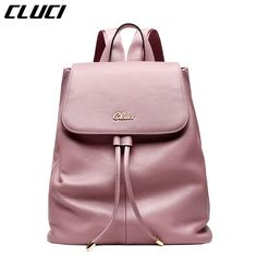 Check current price CLUCI Women's Casual Daypacks Fashion Real Leather Black/Pink/Blue/Beige Backpacks for Teenage Girls School Bags Gifts Backpack just only $49.49 with free shipping worldwide  #womanbackpacks Plese click on picture to see our special price for you