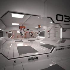 Image result for white slick sci fi interior