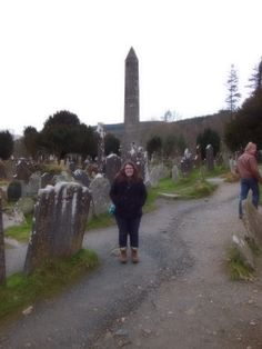 Glendalough in Ireland-- a monastery founded in the 6th century