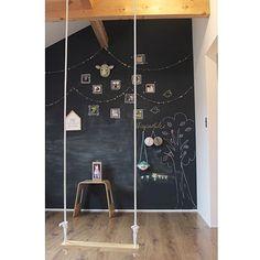 黒板/こどもと暮らす。/黒板塗料/チョークで落書き/ブランコのある生活/Bedroom…などのインテリア実例 - 2016-06-23 15:58:44   RoomClip(ルームクリップ)