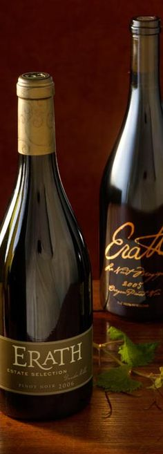 Erath pinot noir from Oregon has a subtle smokey taste, with balsam wood, mushrooms and heirloom over-ripe plum. Warms you like your favorite blanket!
