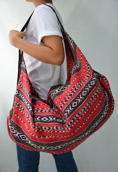Hmong Hippie Gypsy Boho Hobo Backpack Messenger Bag by Dollypun, $14.99