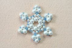 Beaded Christmas snowflake ornaments to share with you! If you know some beading skills, this snowflake ornaments can be easily finished. Let's check it out!