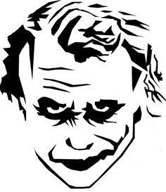 Dark Knight Joker Silhouette Chart/Graph by on Etsy Joker Stencil, Stencil Art, Stenciling, Pumpkin Stencil, Pumpkin Carving, Gotham City, Joker Pumpkin, Face Stencils, Stencil Printing