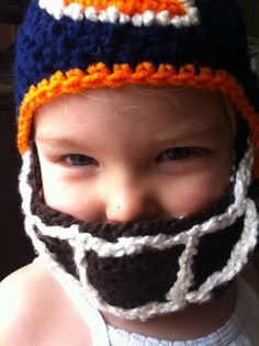 Check it out my super creative cousin makes theses!      Detachable Baby Face Mask Beard and Mustache by Naturally Nora Crochet, $22.00