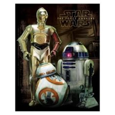 Star+Wars:+Episode+VII+The+Force+Awakens+Droid+Canvas+Wall+Art+