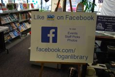 As part of the Logan Library Centennial Celebration we celebrated the 2010's. Among many displays was one about the Logan Library Facebook Page. Like the Logan Library of Facebook!