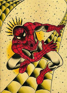 The Amazing Spider-Man Traditional Tattoo Flash Traditional Tattoo Sketches, Traditional Tattoo Flash, Spiderman Tattoo, American Traditional, Amazing Spider, Future Tattoos, Tattoo Designs, Tattoo Ideas, Cool Tattoos
